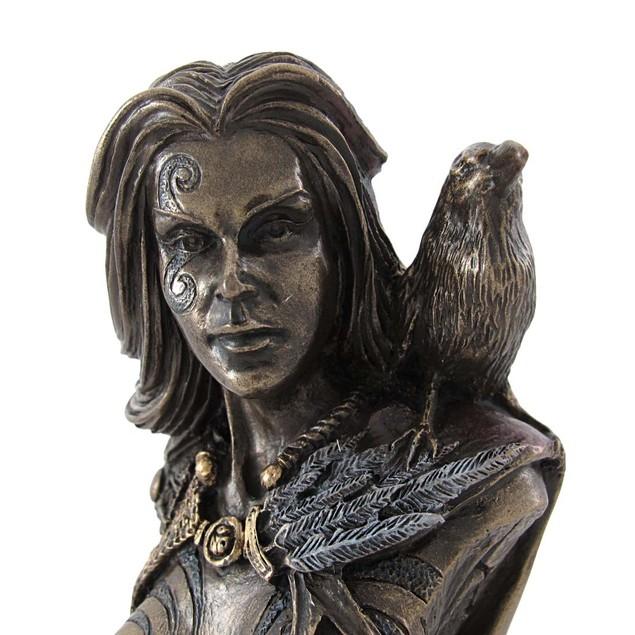 Celtic Morrigan Goddess Of War Bust Statue Bust Sculptures