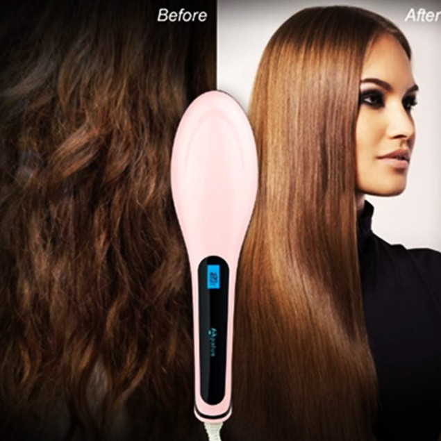 Ceramic Hair Straightening & Detangling Brush