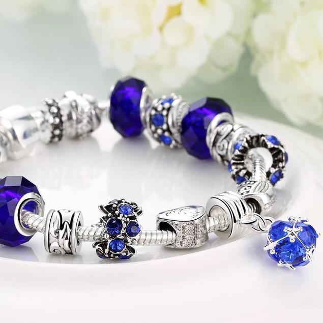 50 Shades of Aqua Blue Designer Inspired Bracelet