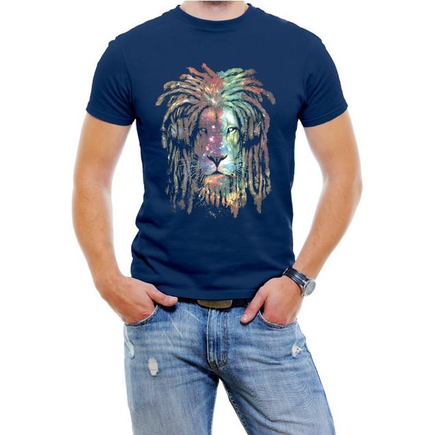 Galaxia Lion Face Men's Fashion T-Shirt