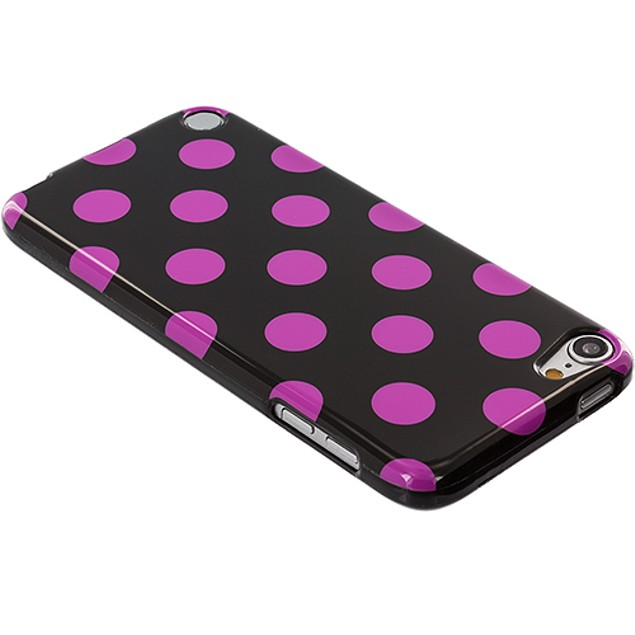 Apple iPod Touch 5th Gen TPU Polka Dot Rubber Case Cover