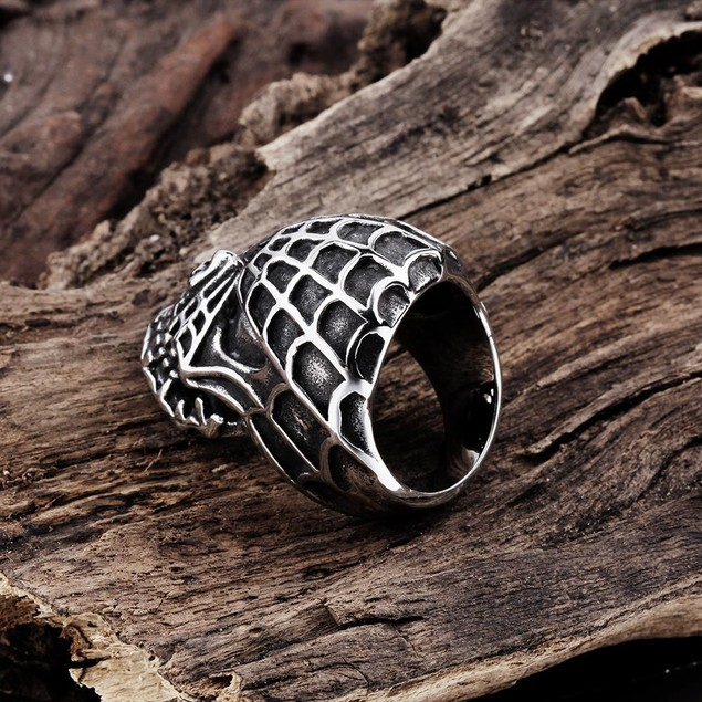 Spider's Web Stainless Steel Ring