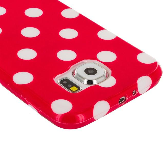 Samsung Galaxy S6 TPU Polka Dot Rubber Case Cover