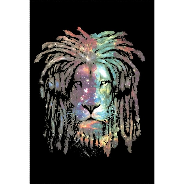 Galaxia Lion Face Men's Fashion T-Shirt