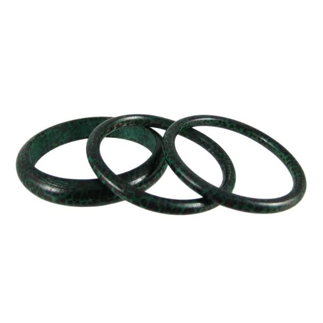 Set Of 3 Green Leopard Print Bangle Bracelets Womens Bangle Bracelets