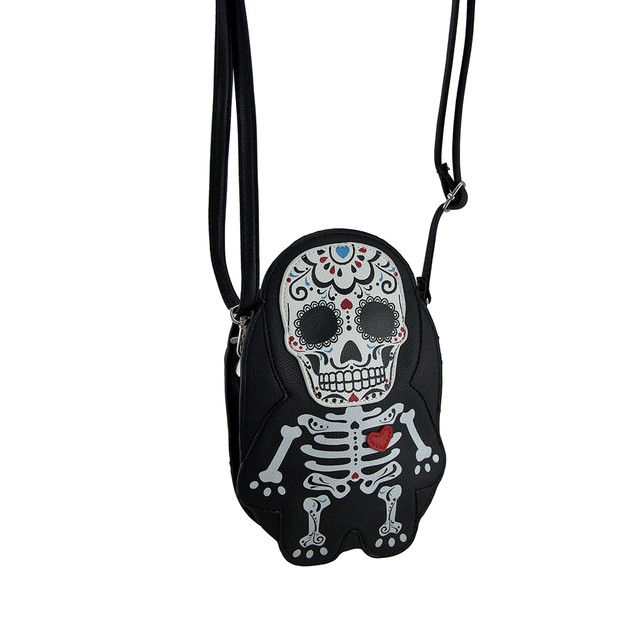Sleepyville Critters Day Of The Dead Sugar Womens Cross Body Bags