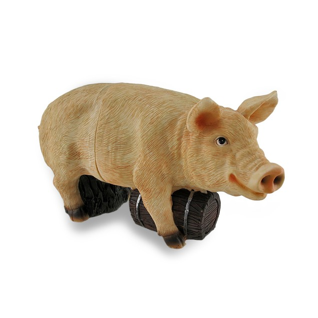 2 Piece Barnyard Swine Wine Bottle Holder Pink Pig Tabletop Wine Racks