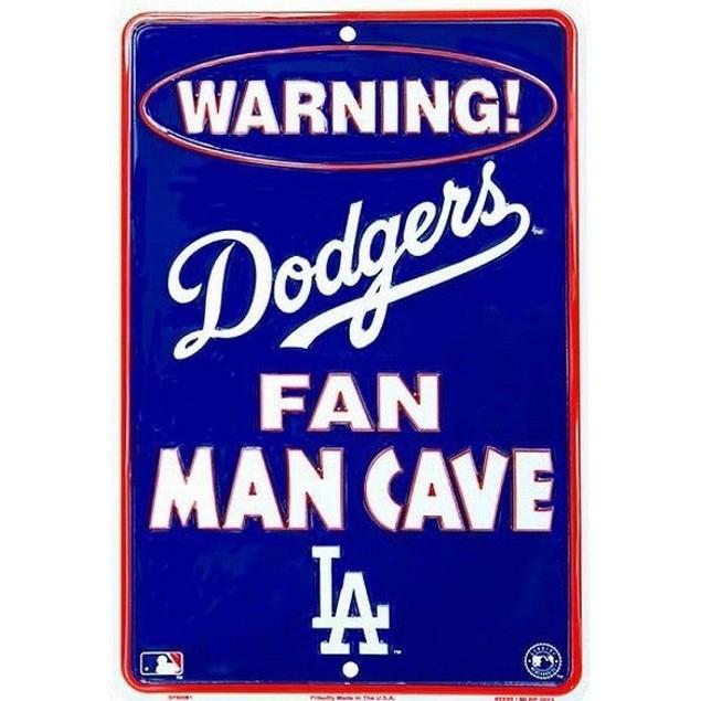 Los Angeles Dodgers MLB Fan Man Cave Parking Sign