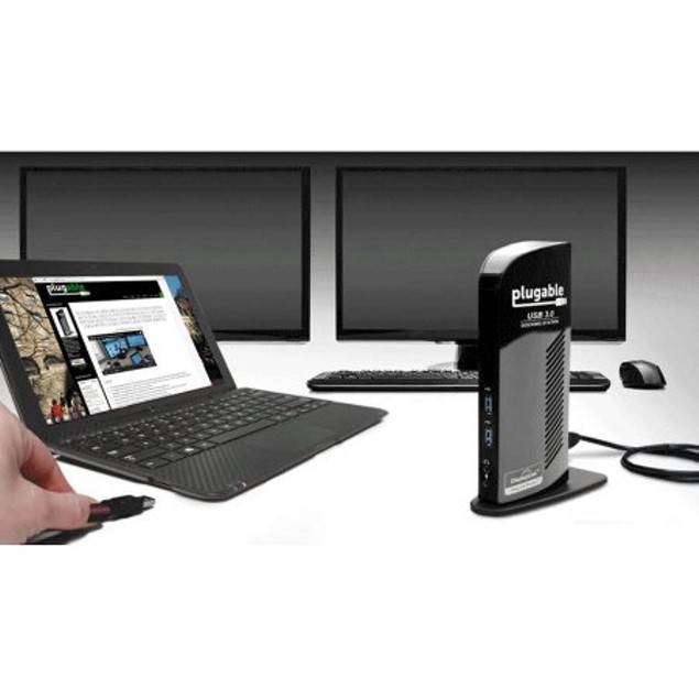Plugable USB 3.0 Universal Laptop Docking Station for Windows PC's