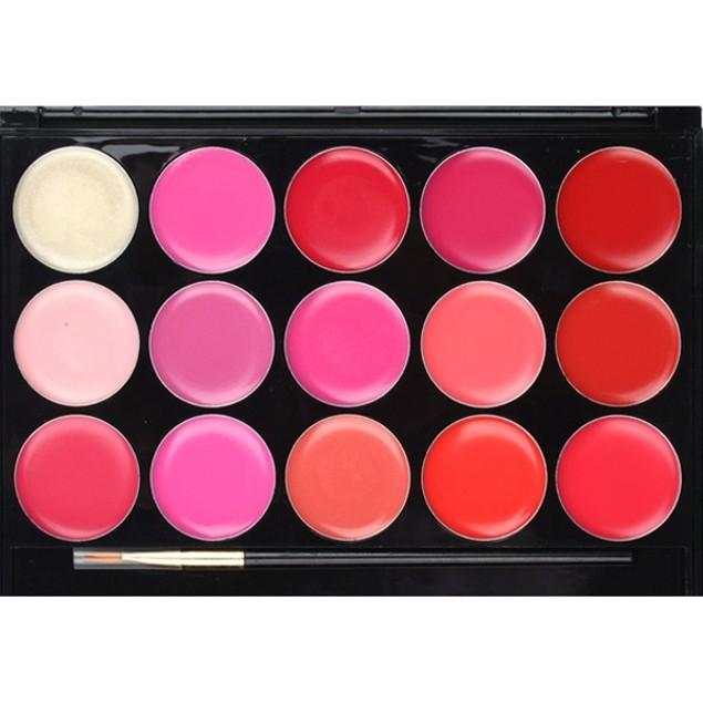 15 Color Lip Gloss Palette