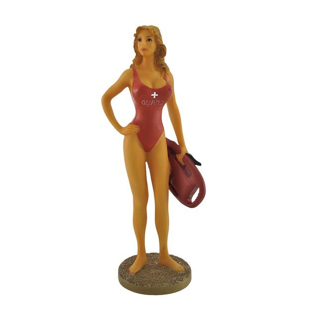 Beautiful Buxom Blonde Vixen Woman Life Guard Statues