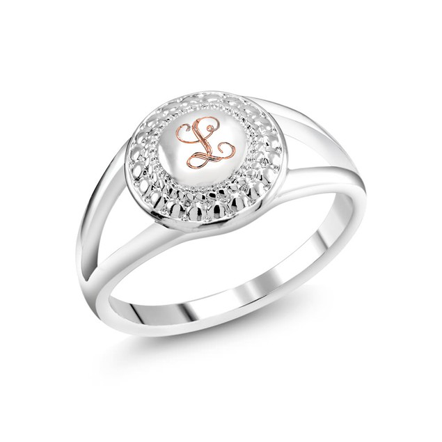 Initialed Round Ring