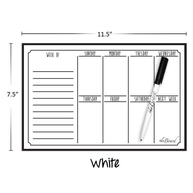 Weekly Calendar Magnet + Fine Tip Marker