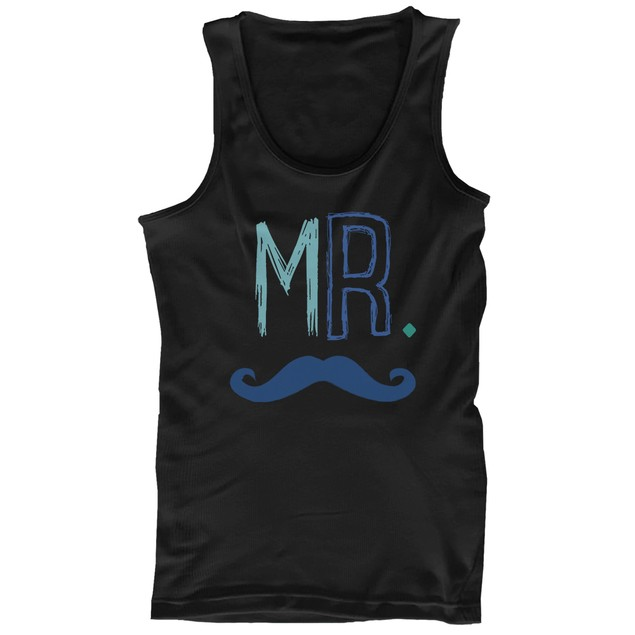 Mr Mustache and Mrs Lips Couple Tank Tops Cute Matching Tanks for Couples