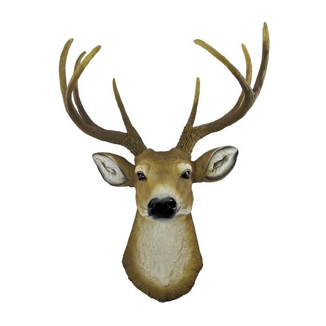 8 Point Buck Deer Head Bust Wall Hanging Wall Sculptures