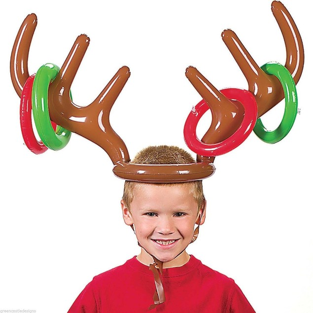 Inflatable Reindeer Party Game Set