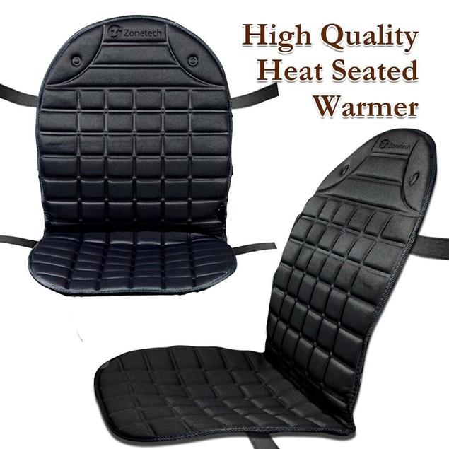 Zone Tech 2x Thickening Heated Car Seat Chair Heater Cushion Warmer