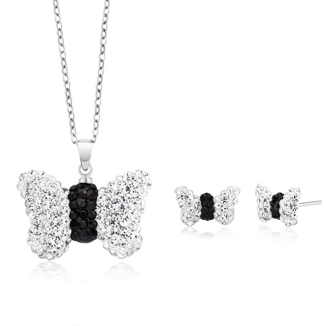 Crystal Earring And Necklace Set