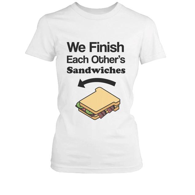 We Finish Each Others Sandwich BFF Shirt Cute Matching Best Friends T-shirt