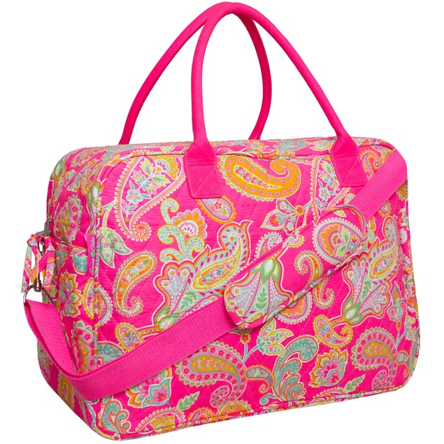MKF Collection Quilted Cotton Duffel Bag - 3 Colors