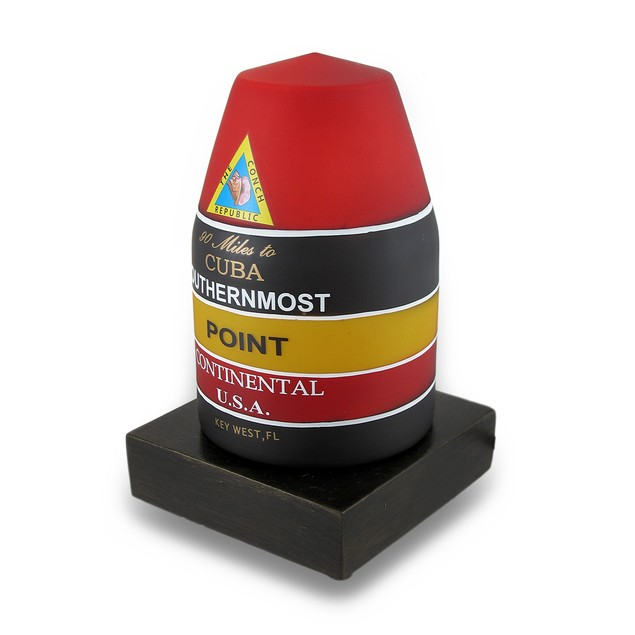 Key West Southernmost Point Buoy Landmark Glass Accent Lamps