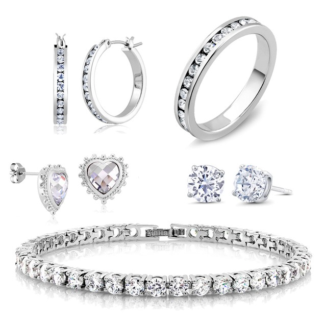 5-Piece Cubic Zirconia Best Selling Jewelry Set