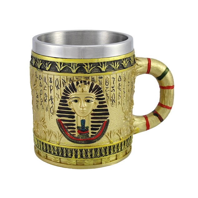 Egyptian Pharaoh Golden Coffee Mug 12 Oz. Coffee Cups