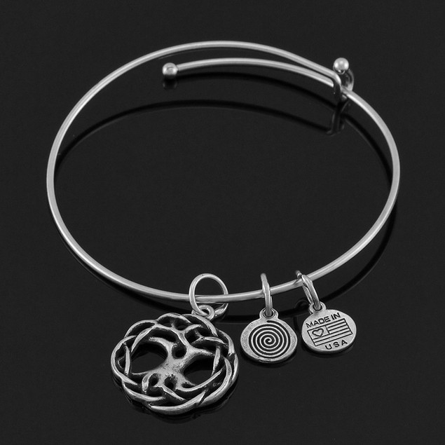 Celtic `Tree Of Life` Silver Plated Expandable Womens Clasps Bracelets