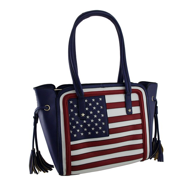 Structured Stars And Stripes American Flag Womens Shoulder Handbags