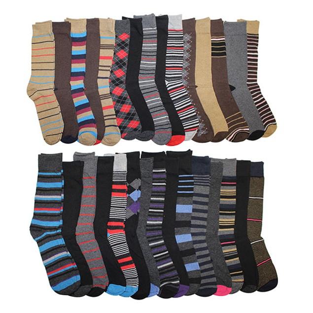 30 Pairs: John Weitz Men's Casual Dress Socks