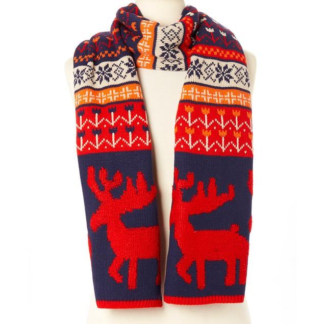 Woodland Reindeer Knit Scarves