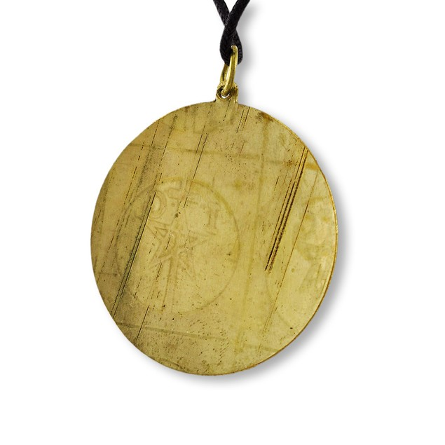Brass / Copper Key Of Solomon Talisman For Good Mens Pendant Necklaces