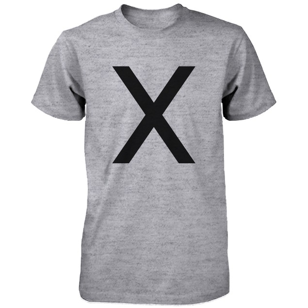 X O Couple Shirts His and Hers Tee Set XO T-shirt Short Sleeve Heather Grey