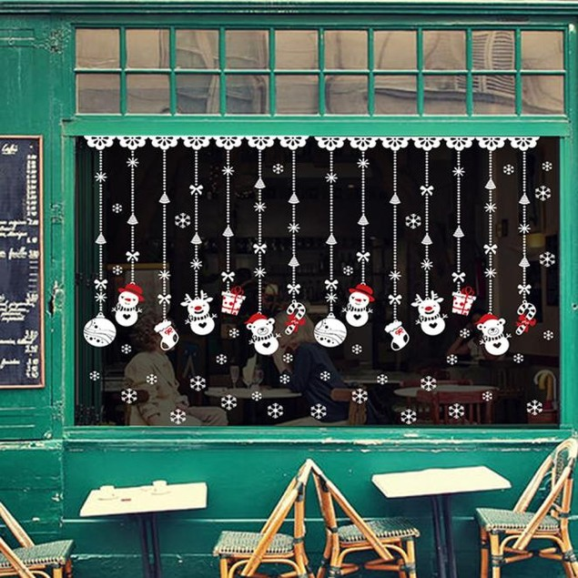 Christmas Snow Ball Removable Home Wall Stickers Decal