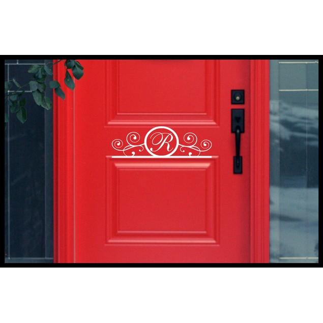 Monogram Initial Door Decal