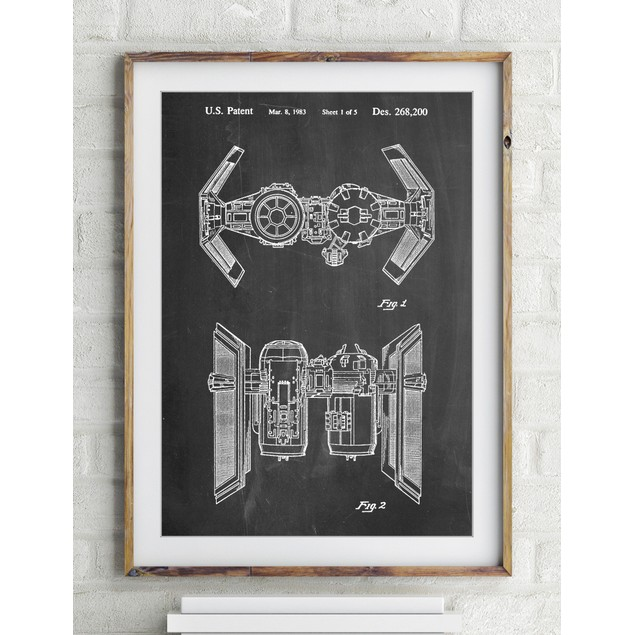 Star Wars TIE Bomber Patent Poster