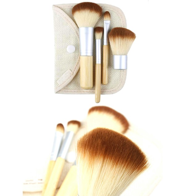Mini 4 Piece Bamboo Brush Set