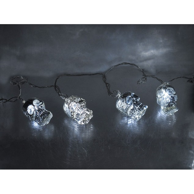 Silver Mercury Glass Look Acrylic 25 Foot Led String Lights