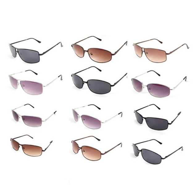 4-Pack Unisex Random Assorted Metal Sunglasses
