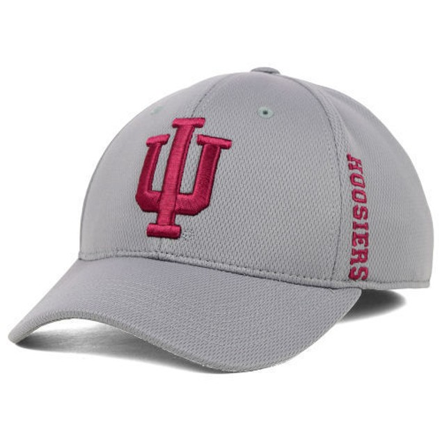 "Indiana Hoosiers NCAA TOW Gray ""Booster"" Memory Fitted Hat"