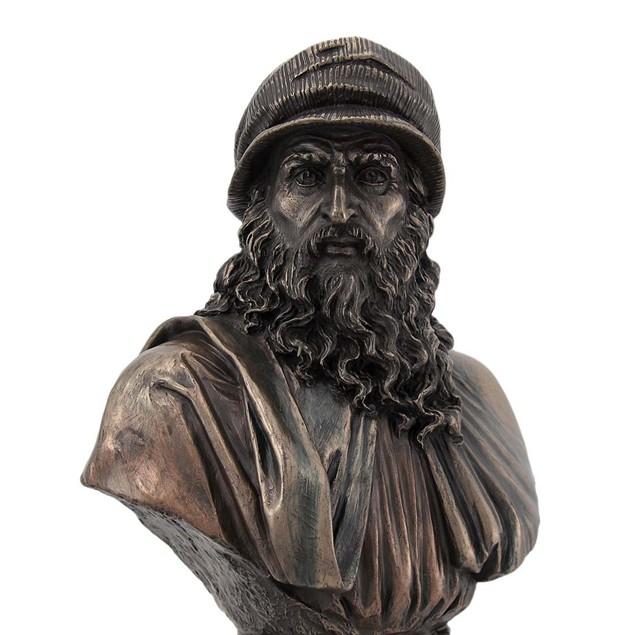 Leonardo Da Vinci Bronze Finish Bust Statue Artist Bust Sculptures