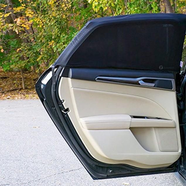 Zone Tech 2x Slip On Stretchable Mesh Protective Side Window Car Sunshade