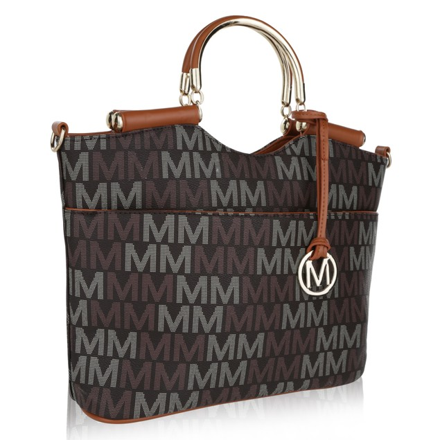 MKF Collection Mayra Milan M Signature handbag by Mia K Farrow