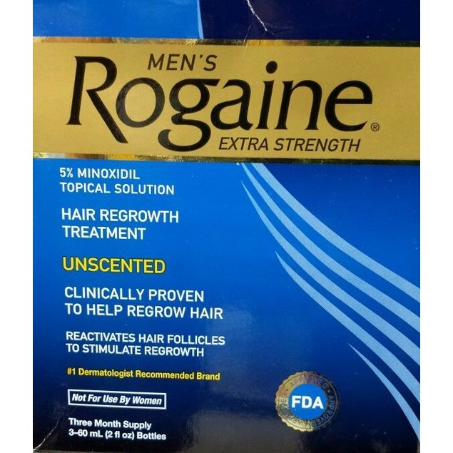 ROGAINE EXTRA STRENGTH MENS UNSCENTED  3 BOTTLES NEW SEALED