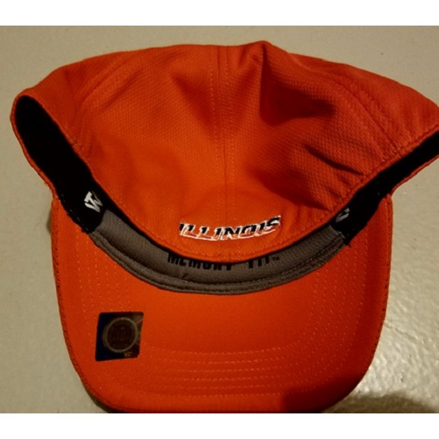 """Illinois Fighting Illini NCAA TOW Orange """"Booster"""" Memory Fitted Hat"""