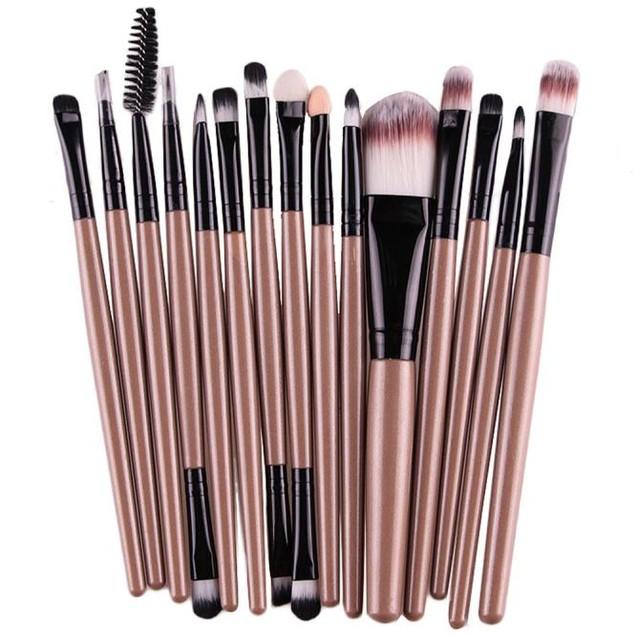 15 pcs Eye Shadow Lip Brush Makeup Brushes Tool