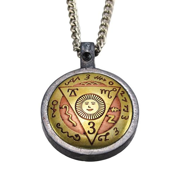 Brass / Pewter Travel Talisman Pendant Safe Mens Pendant Necklaces