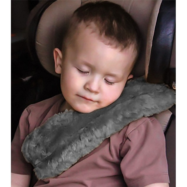Zone Tech Gray Comfortable Soft Seat Belt Covers Shoulder Pads Strap