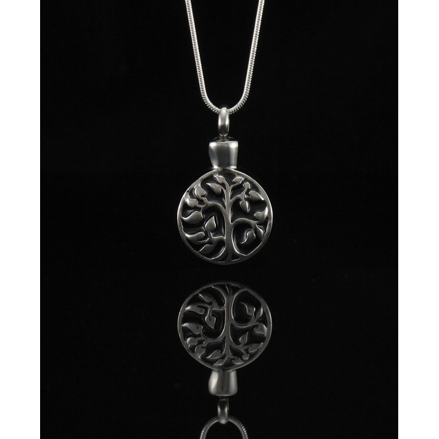 Stainless Steel Tree Of Life Keepsake Vial Pendant Womens Pendant Necklaces