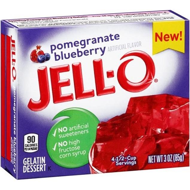 Jell-O Pomegranate Blueberry Instant Jello Gelatin Mix
